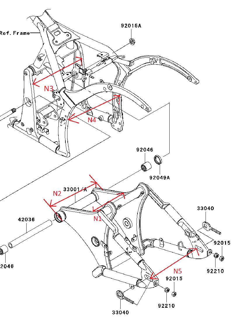 900 VN - quelle largeur bras oscillant VN900 (fixation) Cote_vn900